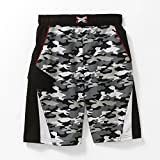 Kids Boy Black White Camo Swimsuit Trunk Shorts Size M 8