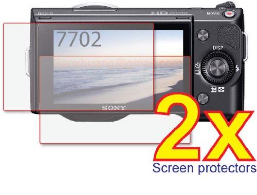 2x Sony Alpha NEX-C3 NEX-3 NEX-5 NEX-5N Digital Camera Premium Clear LCD Screen Protector Cover Guard Film