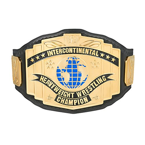 WWE Black Intercontinental Championship Replica Title Belt (Medallion Black Belt)