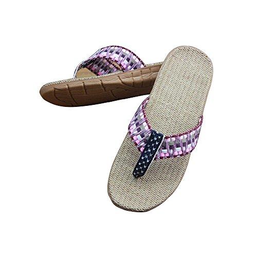 estar casa WANGXN mujer morado de Zapatillas para por FUUqwTax8