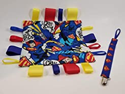 Superman Pacifier clip/teething toy clip...