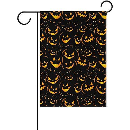 AIRCRY SHOP Art Halloween Happy Pumpkin Decor Garden Flag 12 x 18 -
