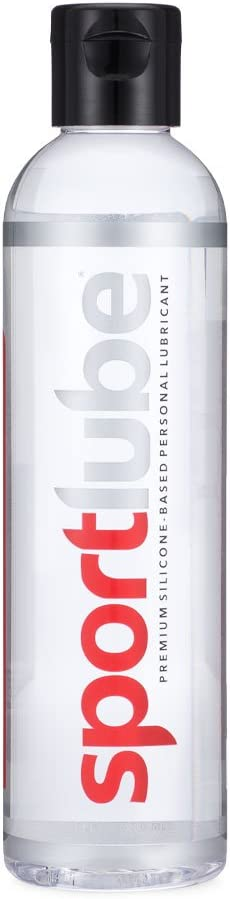 Sportlube Premium Silicone Lubricant (8.1oz) - Personal Sexual Lubrication for Men and Women - Long Lasting, Hypoallergenic, Odorless - Anal and Vaginal Intimate Pleasure Couples Lube