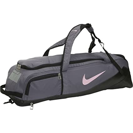 09b5e1e328490 Amazon.com : Nike Standout Backpack Bat Bag - Flint Grey / Black / Perfect  pink : Baseball Bat Bags : Sports & Outdoors