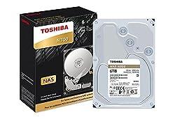 "Toshiba N300 6tb Nas 3.5"" Internal Hard Drive- Sata 6 Gbs 7200 Rpm 128mb (Hdwn160xzsta)"