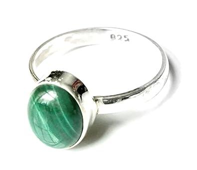 Shanya Sterling Silver Ethnic Ring Green Malachite M1rcFYSS