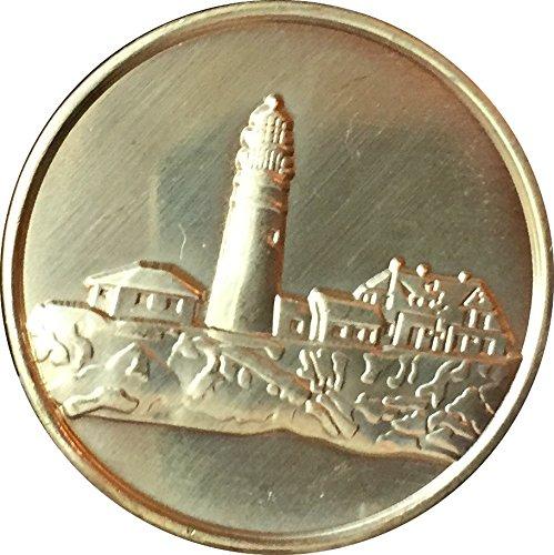 Lighthouse Medallion (Fog Light Prayer Lighthouse Clean Bronze Medallion Chip - Recoverychip)