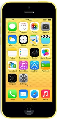 Apple iPhone 5c 8GB Unlocked GSM Cell Phone - Yellow (Renewed) (Apple Iphone 5c 8 Gb Yellow Unlocked)