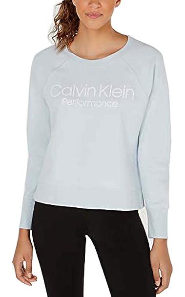 Calvin Klein Womens Performance Logo Sweatshirt Color Green