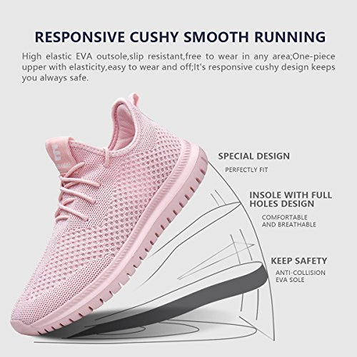 EAST LANDER Men's & Women's Sneakers Lightweight Athletic Shoes Walking Casual Sneakers Lace-up Running Sports Shoes SPT002-W1-38 by EAST LANDER (Image #4)