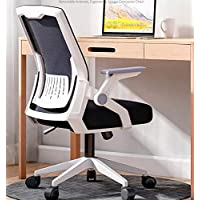Office Chair Reclinable Ergonomic Mesh Offices Computer Study Chairs Home Office Rotating Chair with Armrest (Black…