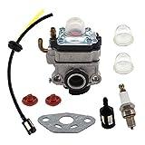 USPEEDA Carburetor for Ryobi RY34006 RY34007 RY34447 4 Cycle X430 30cc Trimmer 309375002 Spark Plug Fuel Line Primer Bulb