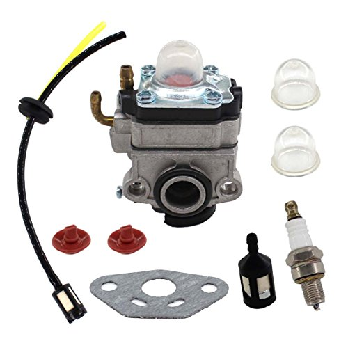 USPEEDA Carburetor for Ryobi RY34006 RY34007 RY34447 4 Cycle X430 30cc Trimmer 309375002 Spark Plug Fuel Line Primer Bulb