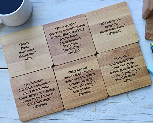 The Office Show Sayings Coasters