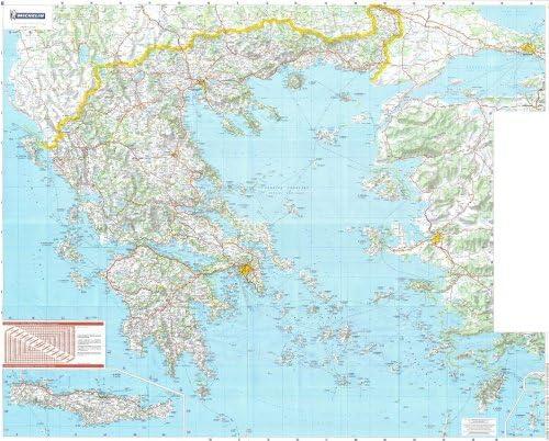 Michelin Mapa Nacional de la pared de Grecia: Amazon.es: Hogar