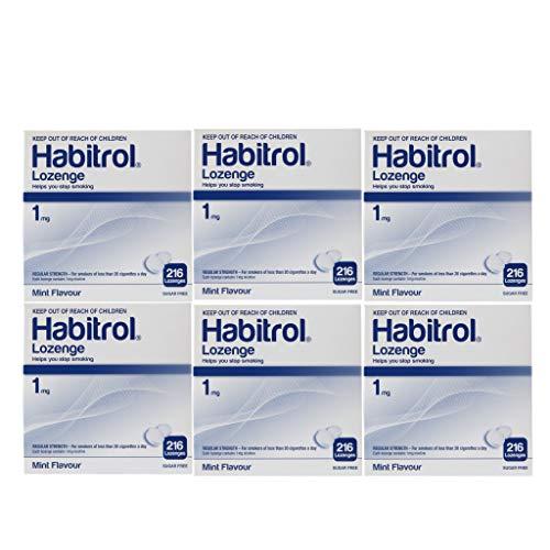 Habitrol Nicotine Lozenge 1mg Mint Flavor. 6 Packs