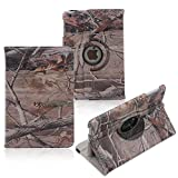 Tsmine Apple iPad 2/3/4 Case - Premium 360 Degree Rotating PU Leather Camouflage Branch Leaves Cover for Apple iPad 2, iPad 3 & iPad 4th Generation(Automatic Wake/Sleep Feature),Branches