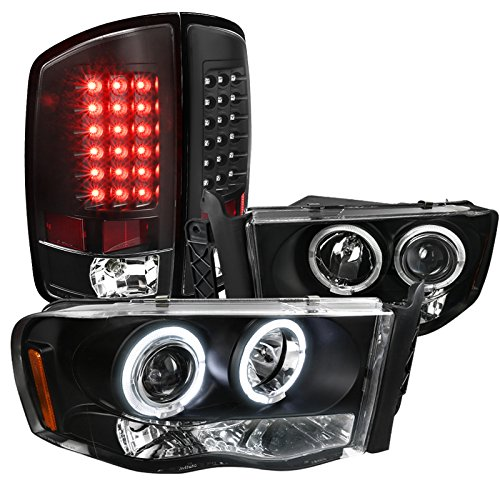 Dodge Black Headlights Lights Lamps
