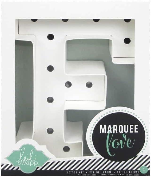 Heidi Swapp Marquee Love Led Letras F, Cartón, Blanco, 8.5x2.2x8.5 ...