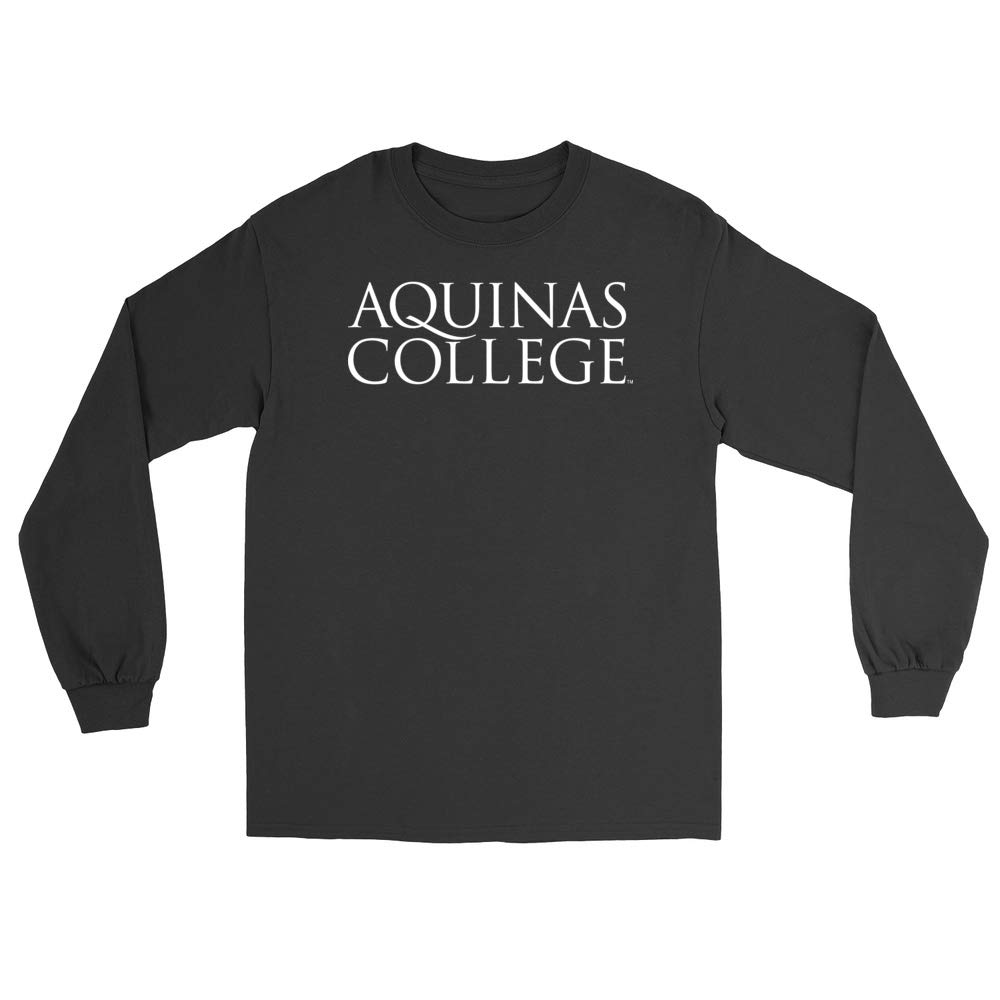 Official NCAA Aquinas College Saints PPAQC02 Mens//Womens Boyfriend Long Sleeve Tee