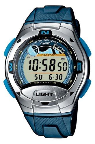 Casio W-753-2AVEF - Reloj digital de mujer de cuarzo con correa de acero inoxidable azul - sumergible a 30 metros: Amazon.es: Relojes