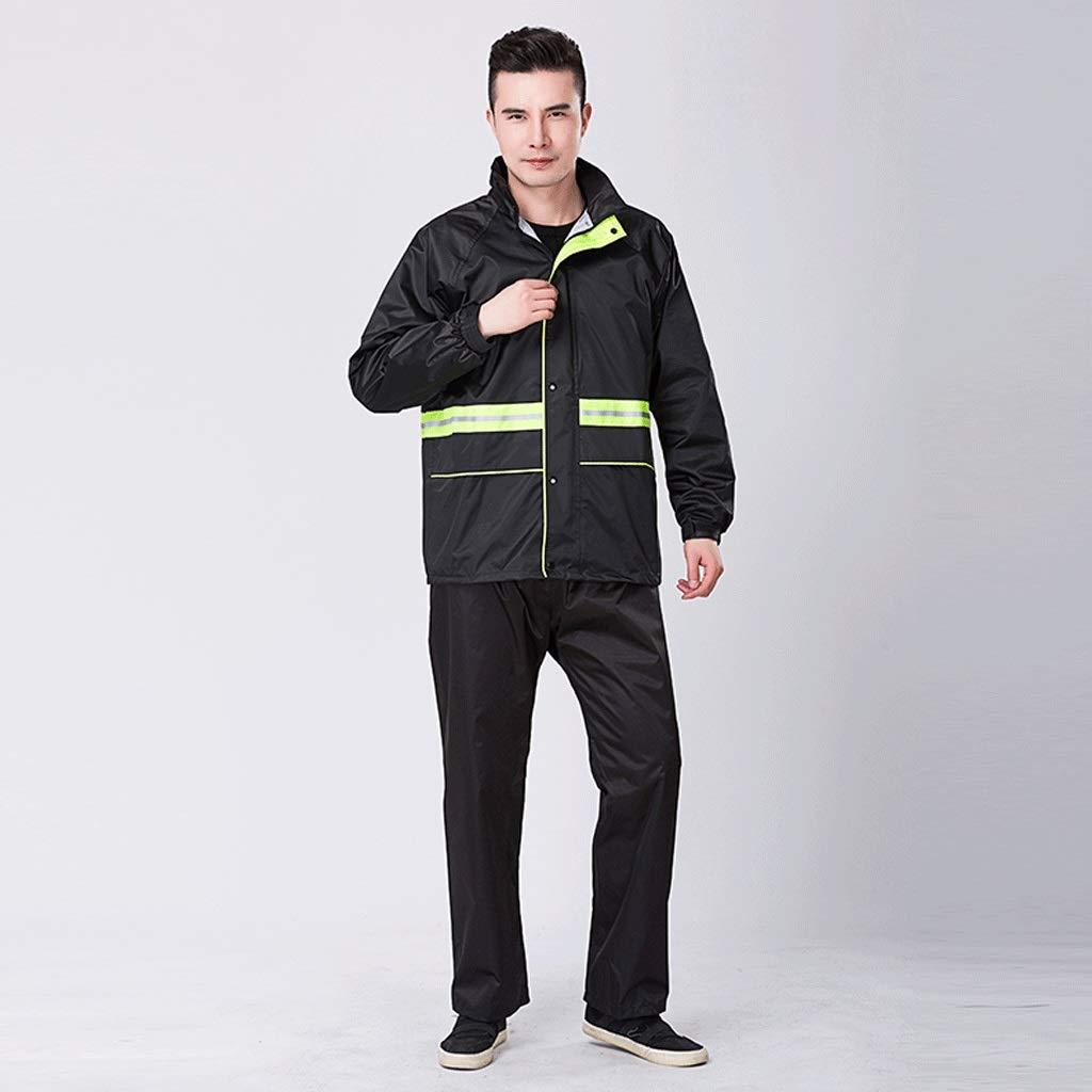 Vert X-grand Duanguoyan Imperméable- Pantalon de Pluie pour Homme en Tricot Fendu + imperméable en PVC (Couleur   Orange, Taille   XXXL)