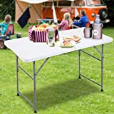 FORUP Folding Utility Table, 4ft Fold-in-Half