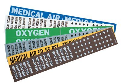 Brady 86330 Medical Gas Pipe Marker, 2 1/4