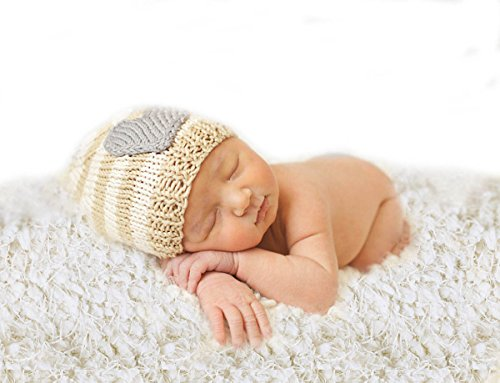 Sunmig Newborn Baby Photo Prop Blanket Rug Background Backdrops Basket Stuffer (Off-white)