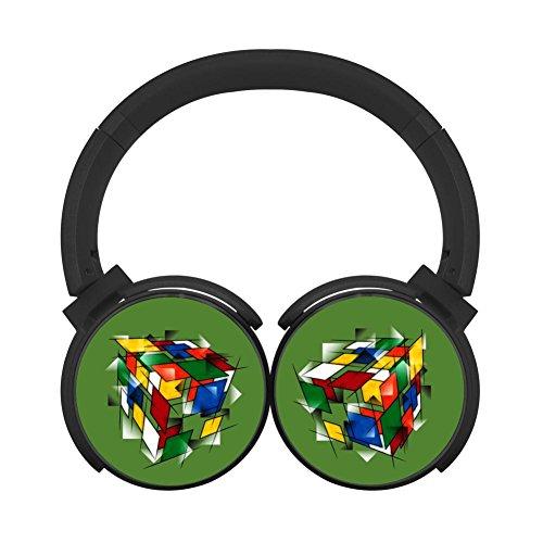 Hei Bai.J Rubik's Cubism Headphones Over-ear Stereo Fold Wireless Bluetooth Earphone Black