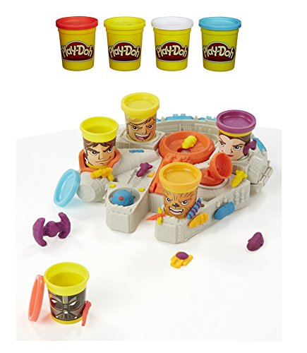 (Play-Doh Disney Star Wars Millennium Falcon Can-Heads Bundle with 4-Pack Colors)