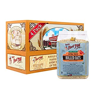 Thick Rolled Oats by Bob's Red Mills, 32 oz (Pack of 4)