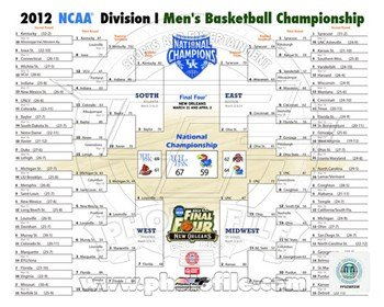 Photofile PFSAAOR08401 University of Kentucky 2012 NCAA Mens Basketball National Champions Bracket Photo Print (8.00 x 10.00) (Ncaa Basketball Bracket compare prices)