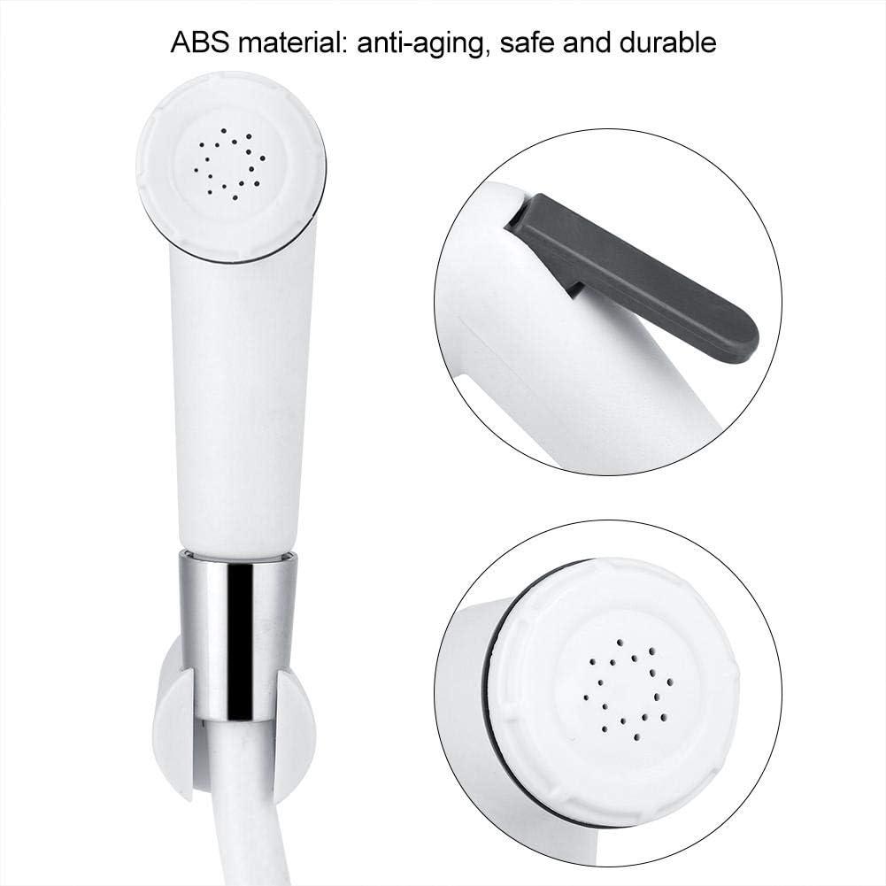 Durable Shattaf Tool Bidet Sprayer Personal Hygiene Portable ABS Plastic Bathroom Shower Head Kit Accessory Toilet Attachment with Hose and Wall Holder Handheld Bidet Sprayer Set
