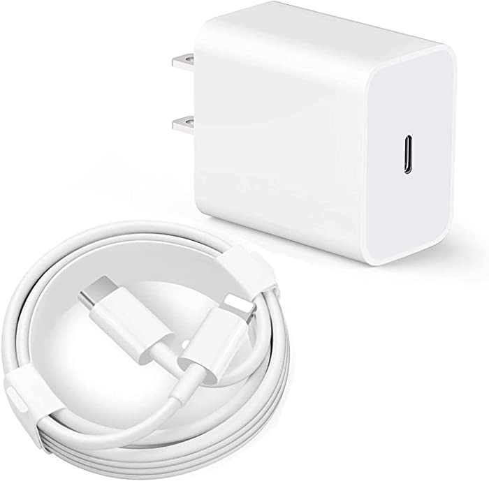 iPhone 12 Charger, iPhone Charger, 20W Type C Charger Power Adapter PD Fast Charger Block for iPhone 12 Mini/12 Pro Max, iPhone 11/XS/XR/X/8 More