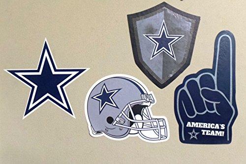 Dallas Cowboys FATHEAD Team Set of 4 Cowboys Logo Signs Helmet Finger Official NFL Vinyl Wall Graphic 5-10