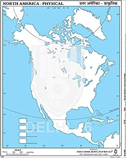 Buy SMALL OUTLINE PRACTICE MAP OF NORTH AMERICA PHYSICAL ...