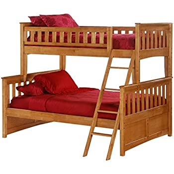 Amazon Com Night Amp Day Ginger Twin Over Full Bunk Bed Cherry Finish Kitchen Amp Dining