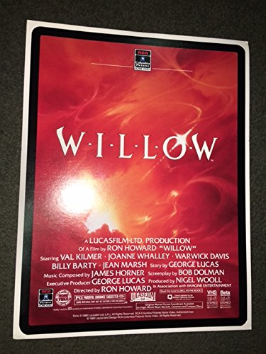 Willow 1988 VHS Store Promo Flyer Card Mini Lobby Card Ron Howard George Lucas 11