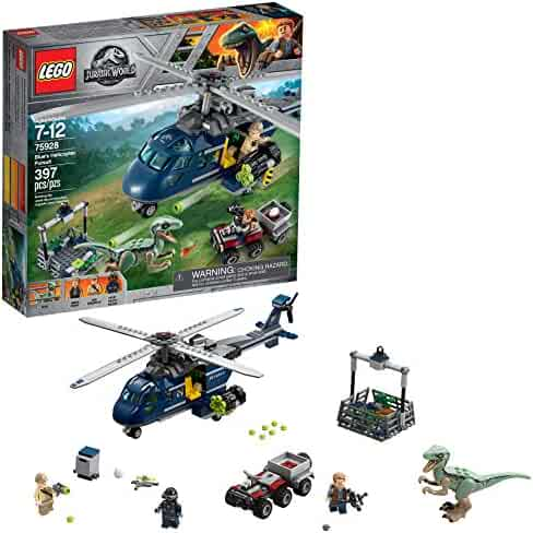 LEGO Jurassic World Blue's Helicopter Pursuit 75928 Building Kit (397 Piece)