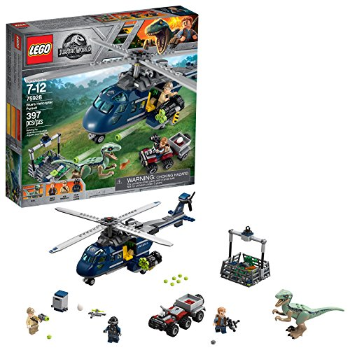 LEGO Jurassic World Blue's Helicopter Pursuit 75928 Building Kit (397 Piece)]()