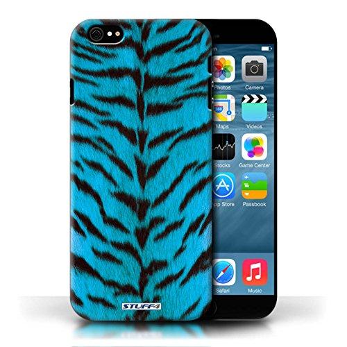 Kobalt® protector duro de nuevo caso / cubierta para el Apple iPhone 6/6S | Azul Diseño | Tigre de la piel de los animales/de impresión colección
