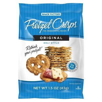 Pretzel Crisps Original, 1.5-ounce (Pack of 12) - Crunchin Crackers