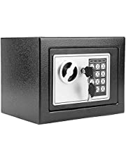 Modrine Security Safe - Digital Safe, Electronic Steel, Fireproof & Waterproof Box with Keypad to Protect Money, Jewelry, Passports for Home, Business or Travel