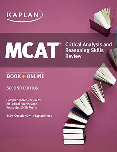 Kaplan MCAT Critical Analysis and Reasoning Skills Review (Kaplan Test Prep) Pdf