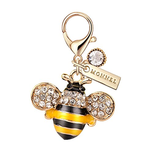 Yellow Bee Charm