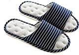 Asifn Indoor Home Slippers Memory Foam Men Women Cotton Cozy Massage Flax House Casual House