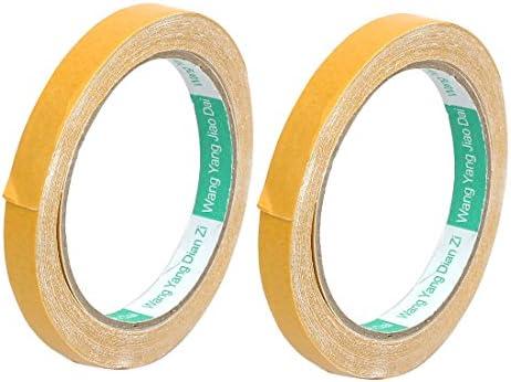 8mm x 66m Waterproof Single Sided Adhesive Marking Tape Milky White 2Pcs