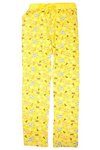 Casual Nights Women's Cotton Pajama Sleep Pants - Ice Cream Yellow - (Yellow Womens Pajamas)