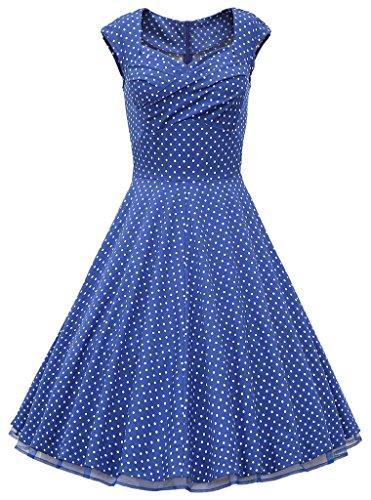 Eudolah - Vestido - Sin mangas - para mujer Blau Punket